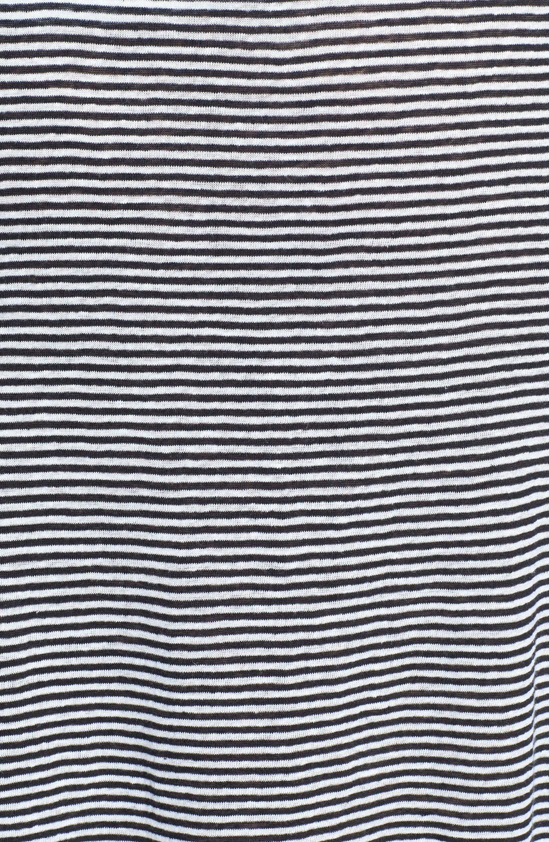 Alternate Image 3  - Eileen Fisher Stripe Organic Linen Knit Skirt (Plus Size)