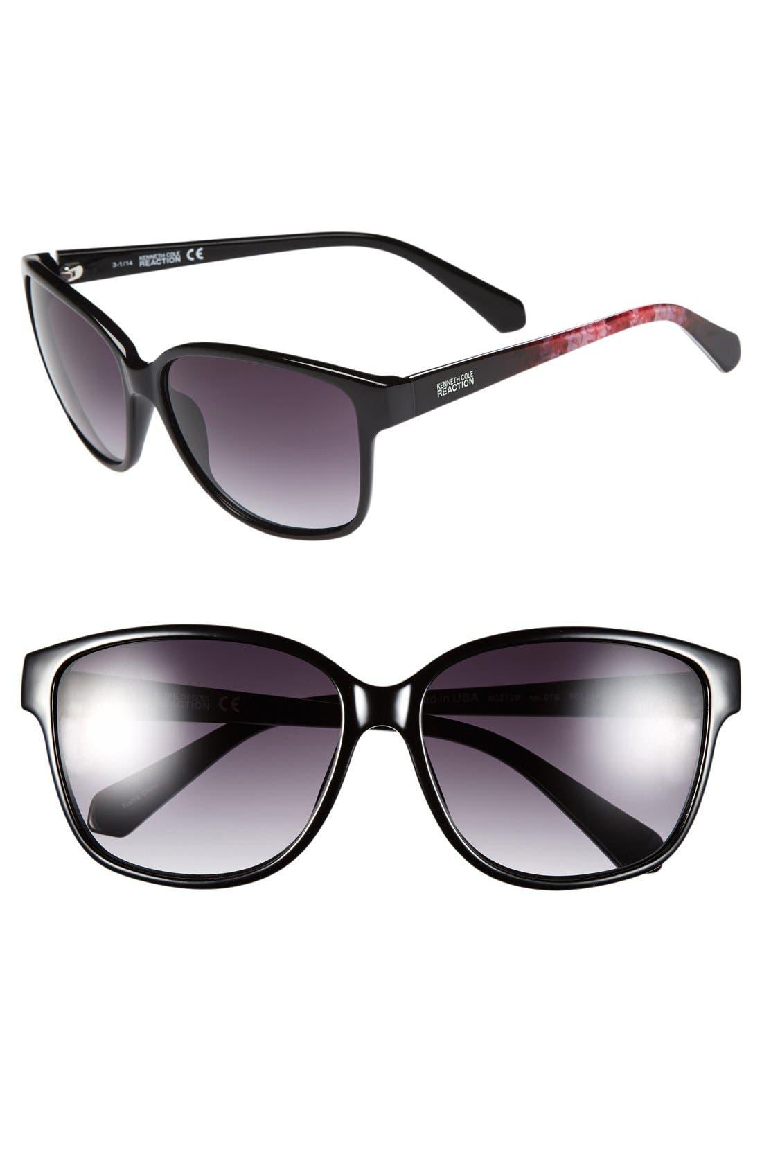 Main Image - Polaroid Eyewear 59mm Polarized Aviator Sunglasses