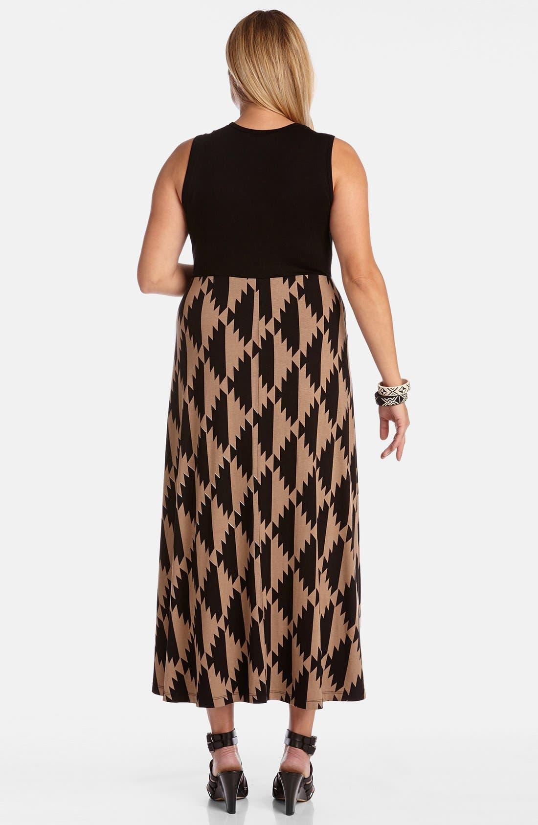 Alternate Image 2  - Karen Kane 'Island Print' Sleeveless V-Neck Maxi Dress
