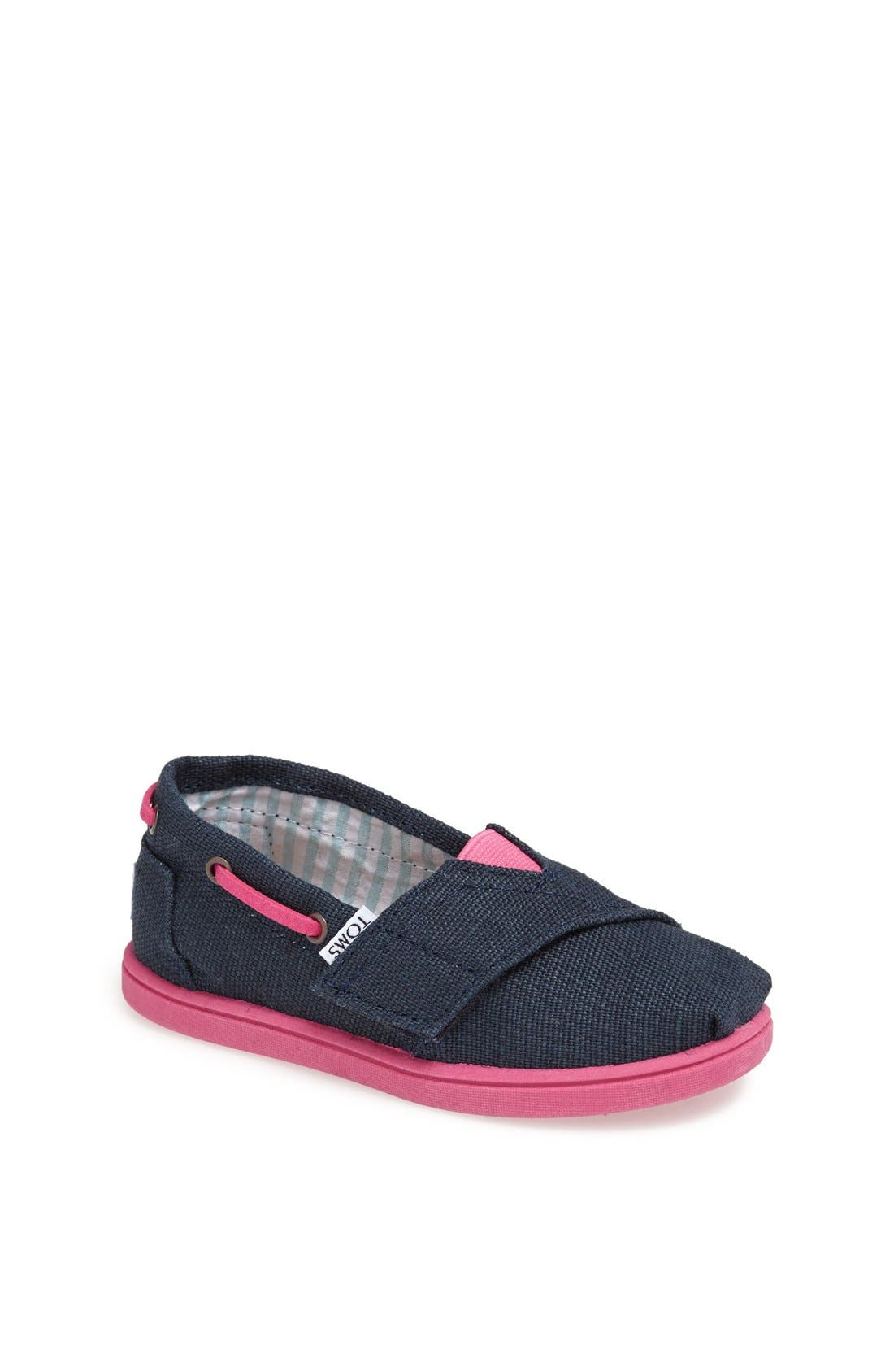 Alternate Image 1 Selected - TOMS 'Classic Tiny - Burlap Bimini' Slip-On (Baby, Walker & Toddler)(Nordstrom Exclusive Color)