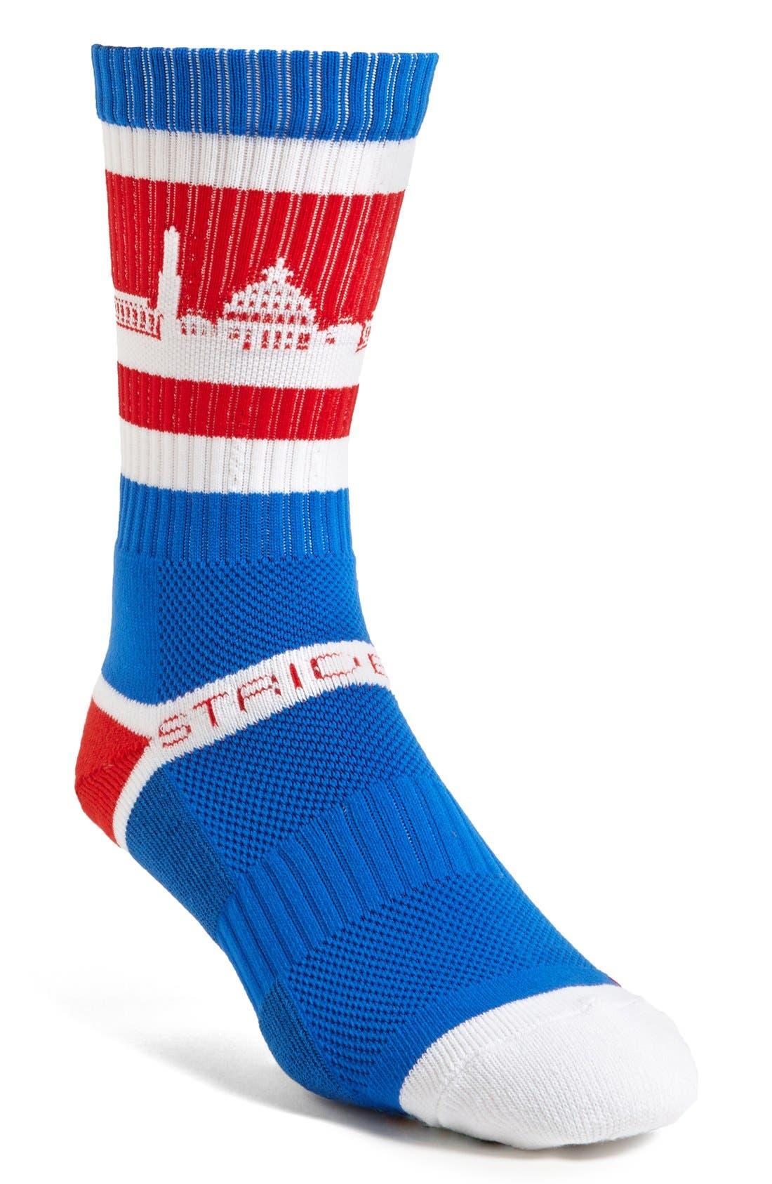 Alternate Image 1 Selected - STRIDELINE 'Washington D.C.' Socks