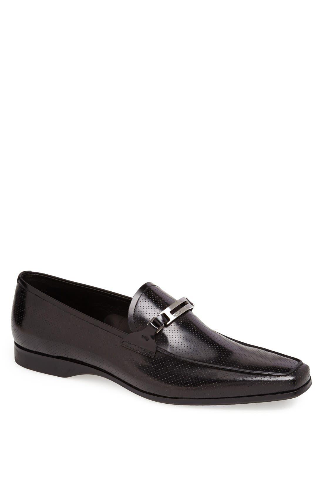 Alternate Image 1 Selected - Prada Leather Bit Loafer