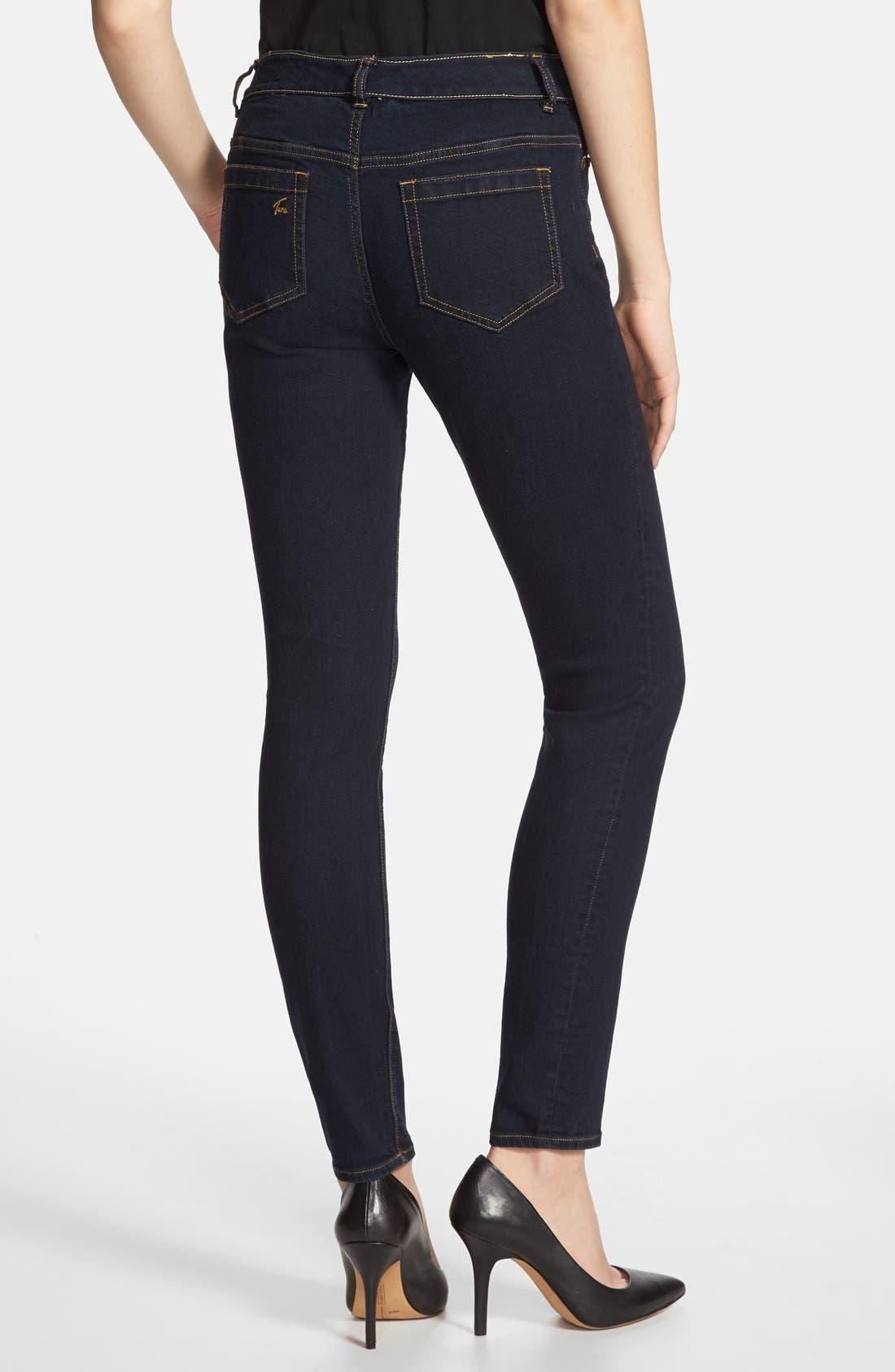 Alternate Image 2  - Vince Camuto Super Stretch Skinny Jeans (Midnight Dark)