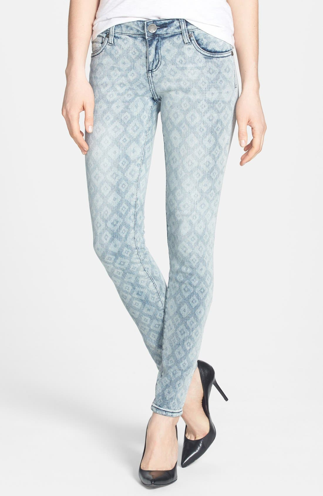 Alternate Image 1 Selected - KUT from the Kloth 'Mia' Print Stretch Skinny Jeans (Young)