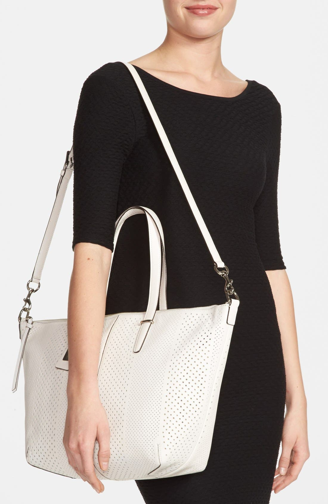 Alternate Image 2  - COACH 'Bleecker' Perforated Leather Satchel