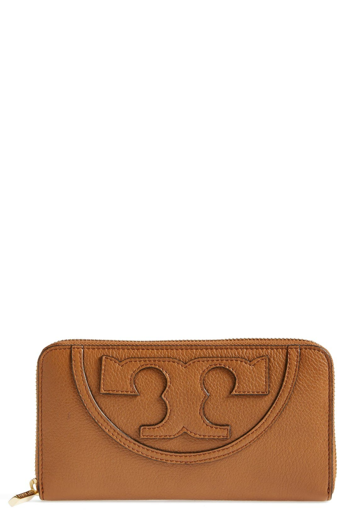 Alternate Image 1 Selected - Tory Burch 'All T' Leather Continental Wallet