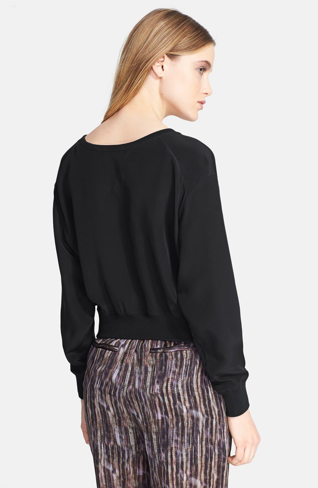 Alternate Image 2  - Theyskens' Theory 'Bason' Silk Crop Sweater