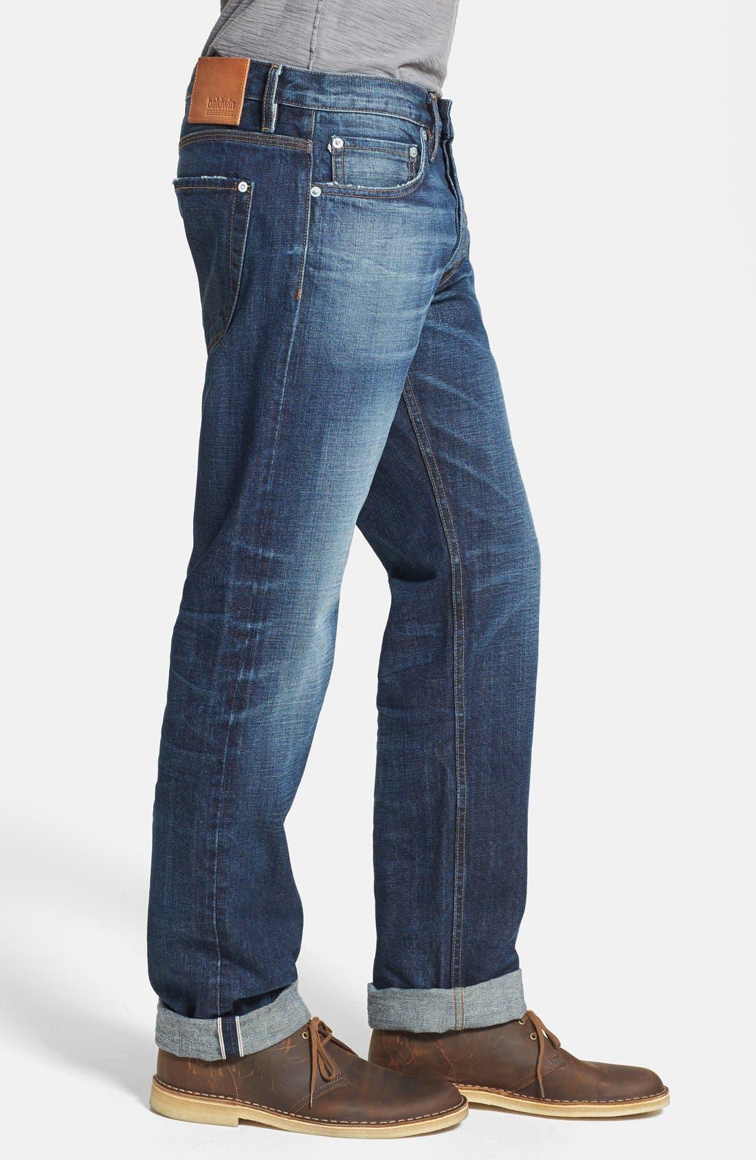 Alternate Image 3  - Baldwin 'Reed' Straight Leg Selvedge Jeans (Classic No. 5)