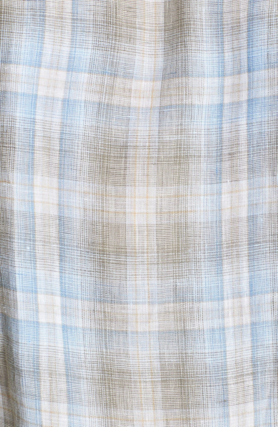 Alternate Image 3  - Robert Talbott Woven Linen Sport Shirt