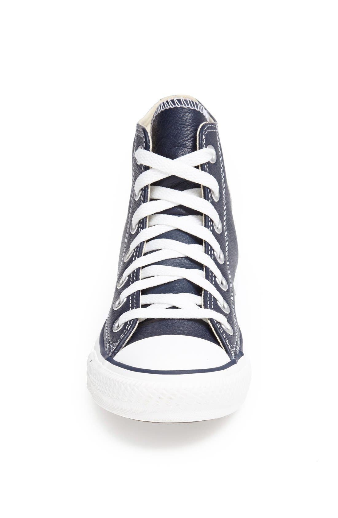 Alternate Image 3  - Converse Chuck Taylor® All Star® Leather High Top Sneaker (Women)