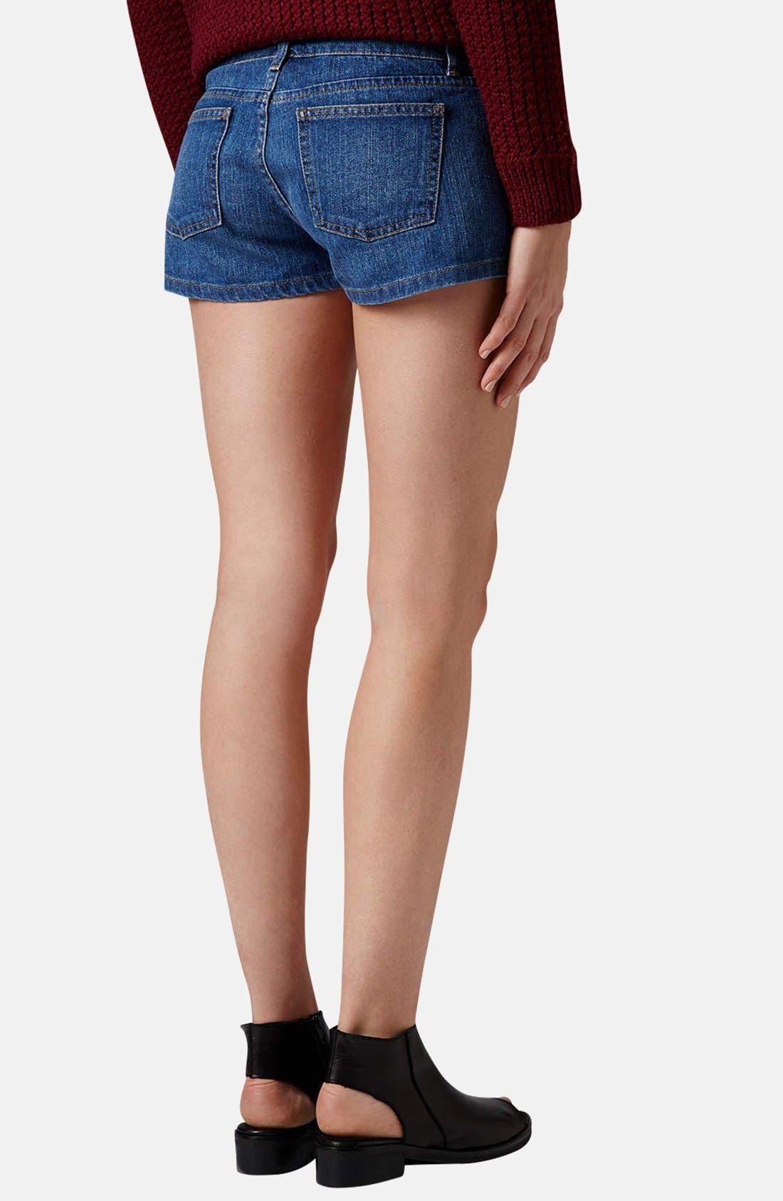 Alternate Image 2  - Topshop Moto 'Daisy' Denim Shorts
