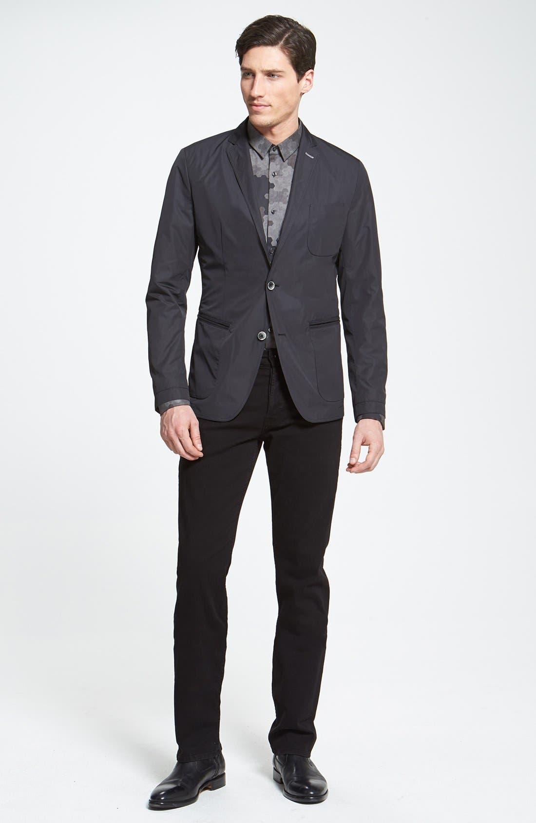 Alternate Image 4  - HUGO 'Ero' Slim Fit Camo Print Sport Shirt