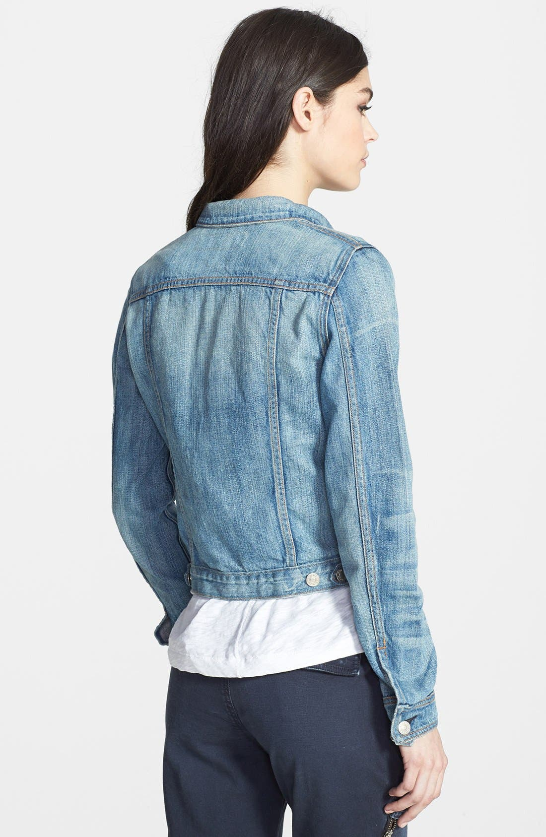 Alternate Image 2  - rag & bone/JEAN Crop Denim Jacket