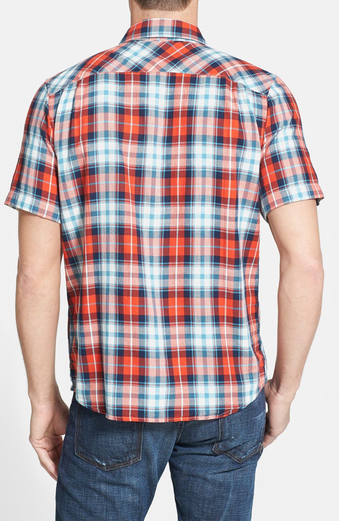 Alternate Image 2  - The North Face 'Marzo' Slim Fit Short Sleeve Plaid Sport Shirt