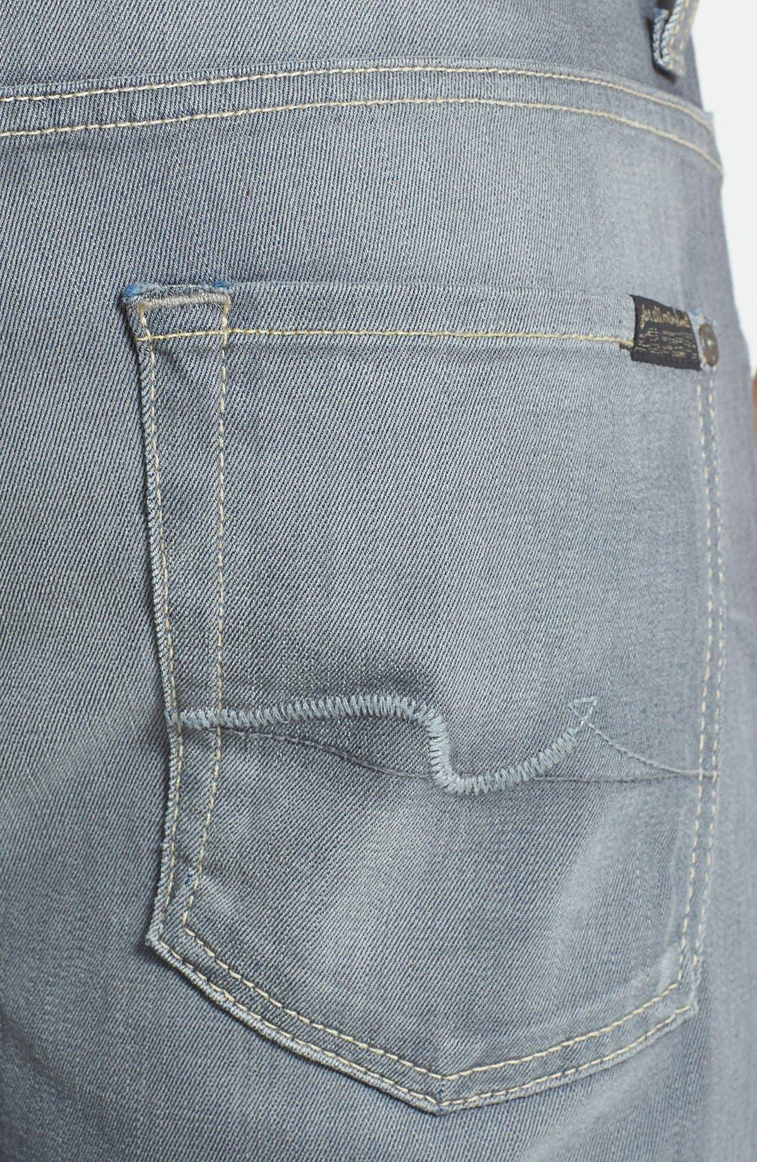 Alternate Image 4  - 7 For All Mankind® 'Carsen' Straight Leg Jeans (Vesper Grey)