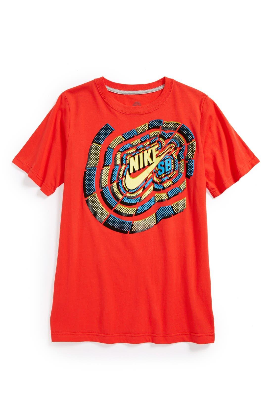 Alternate Image 1 Selected - Nike 'Sunburst SB' T-Shirt (Big Boys)