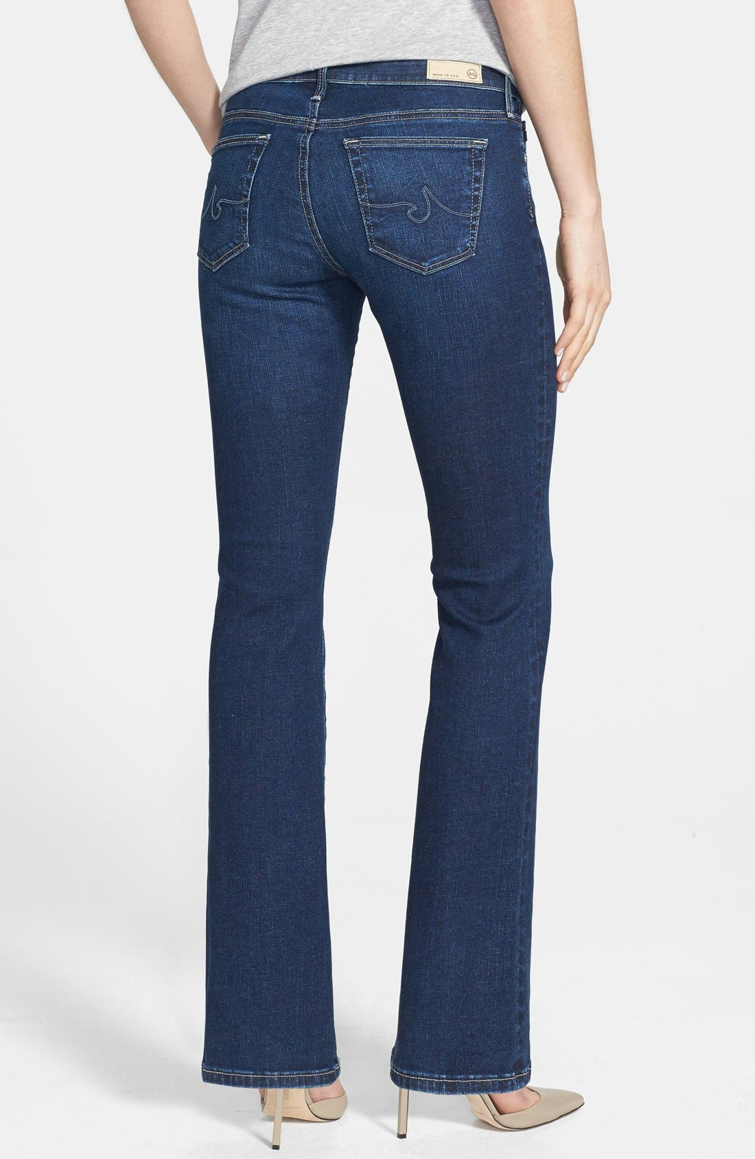 Alternate Image 2  - AG 'Angelina' Bootcut Jeans (Petite) (Estate)