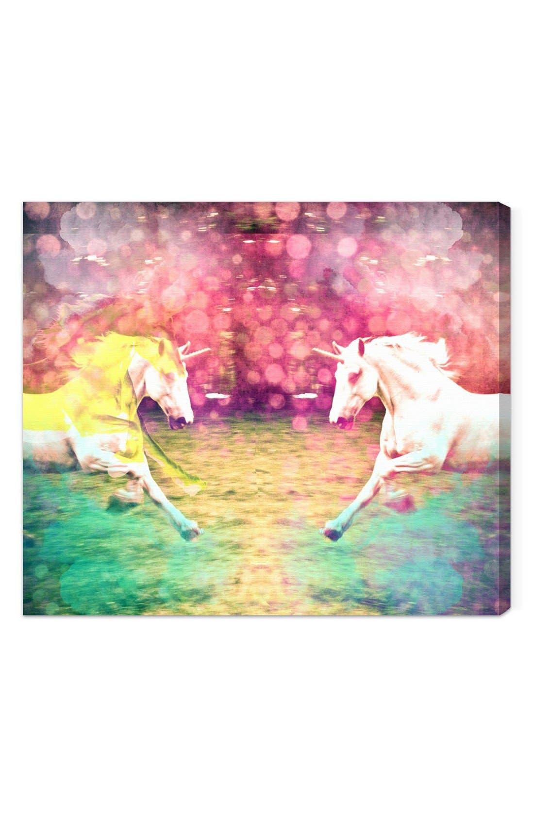 Alternate Image 1 Selected - Oliver Gal 'Unicorns Dusk' Wall Art