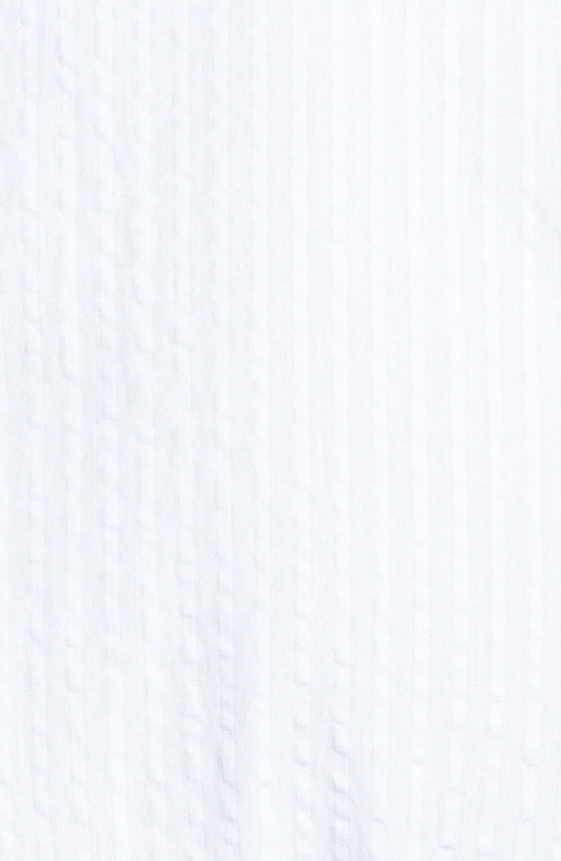 Alternate Image 3  - Façonnable Classic Fit Seersucker Sport Shirt (Tall)