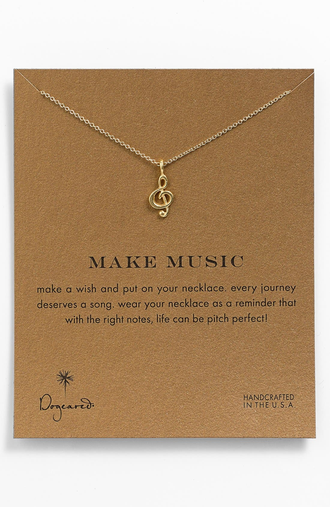 Main Image - Dogeared 'Reminder - Make Music' Boxed Pendant Necklace