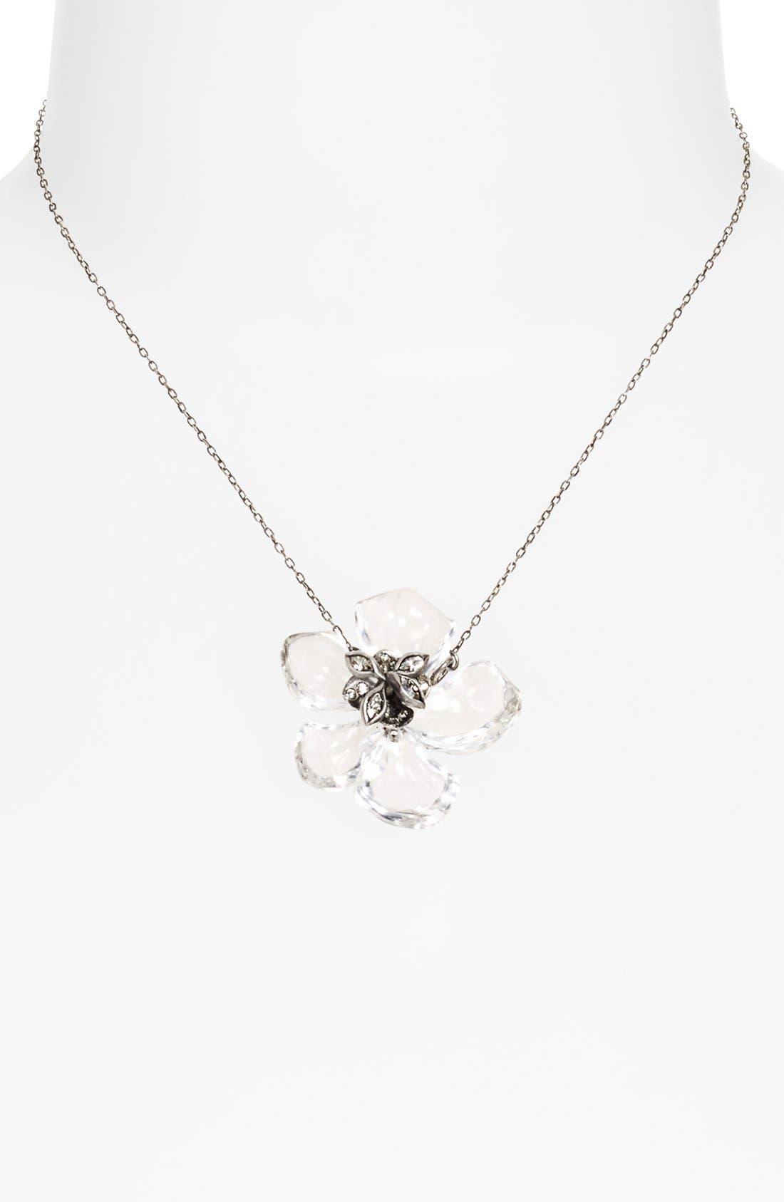Alternate Image 1 Selected - Alexis Bittar 'Lucite® - Jardin Mystère' Flower Pendant Necklace