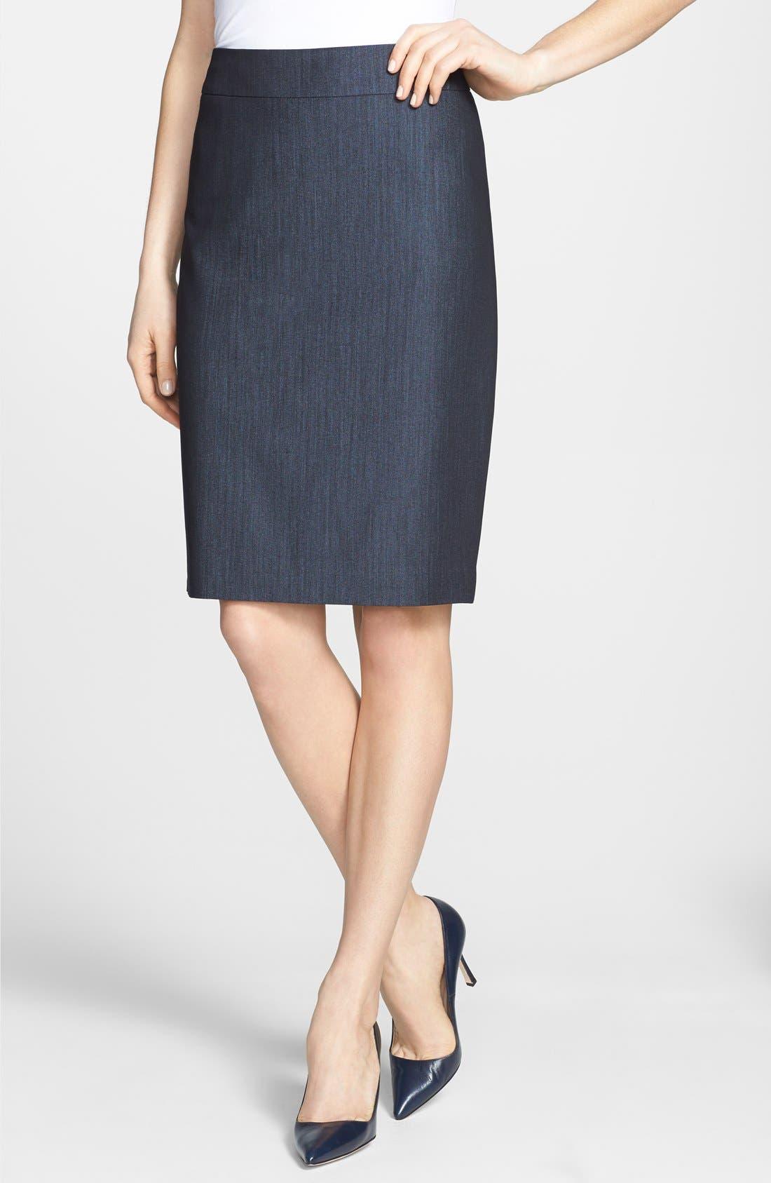 Main Image - Jones New York 'Lucy - Seasonless Stretch' Pencil Skirt