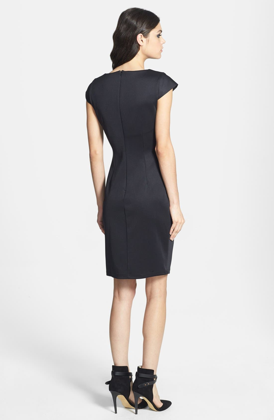 Alternate Image 2  - Topshop V-Neck Sheath Dress