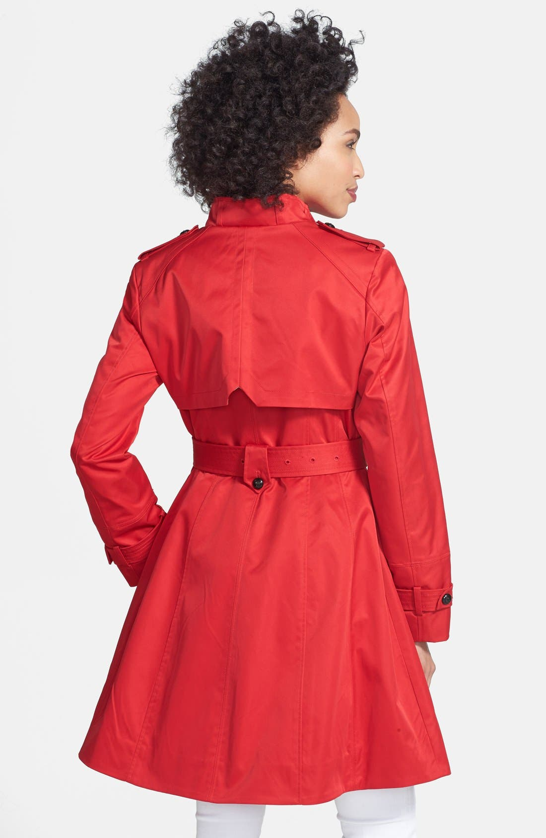 Alternate Image 2  - Cole Haan Asymmetrical Skirted Trench Coat