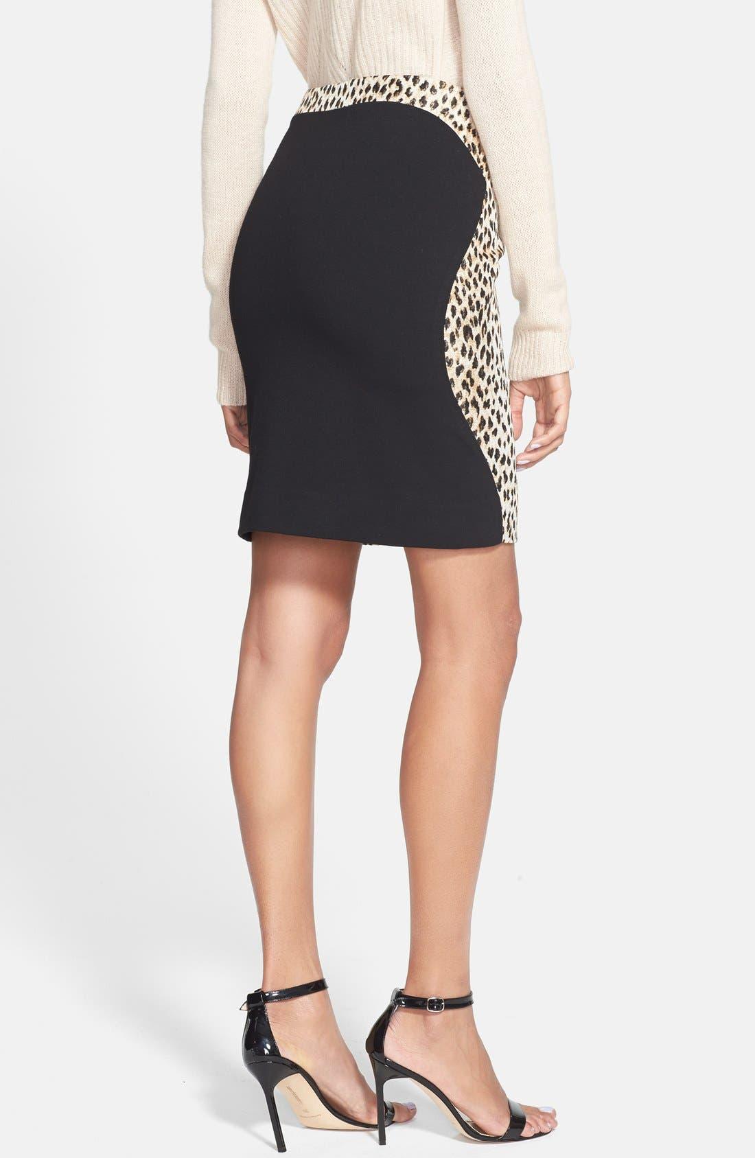 Alternate Image 2  - Diane von Furstenberg 'Mae' Woven Pencil Skirt