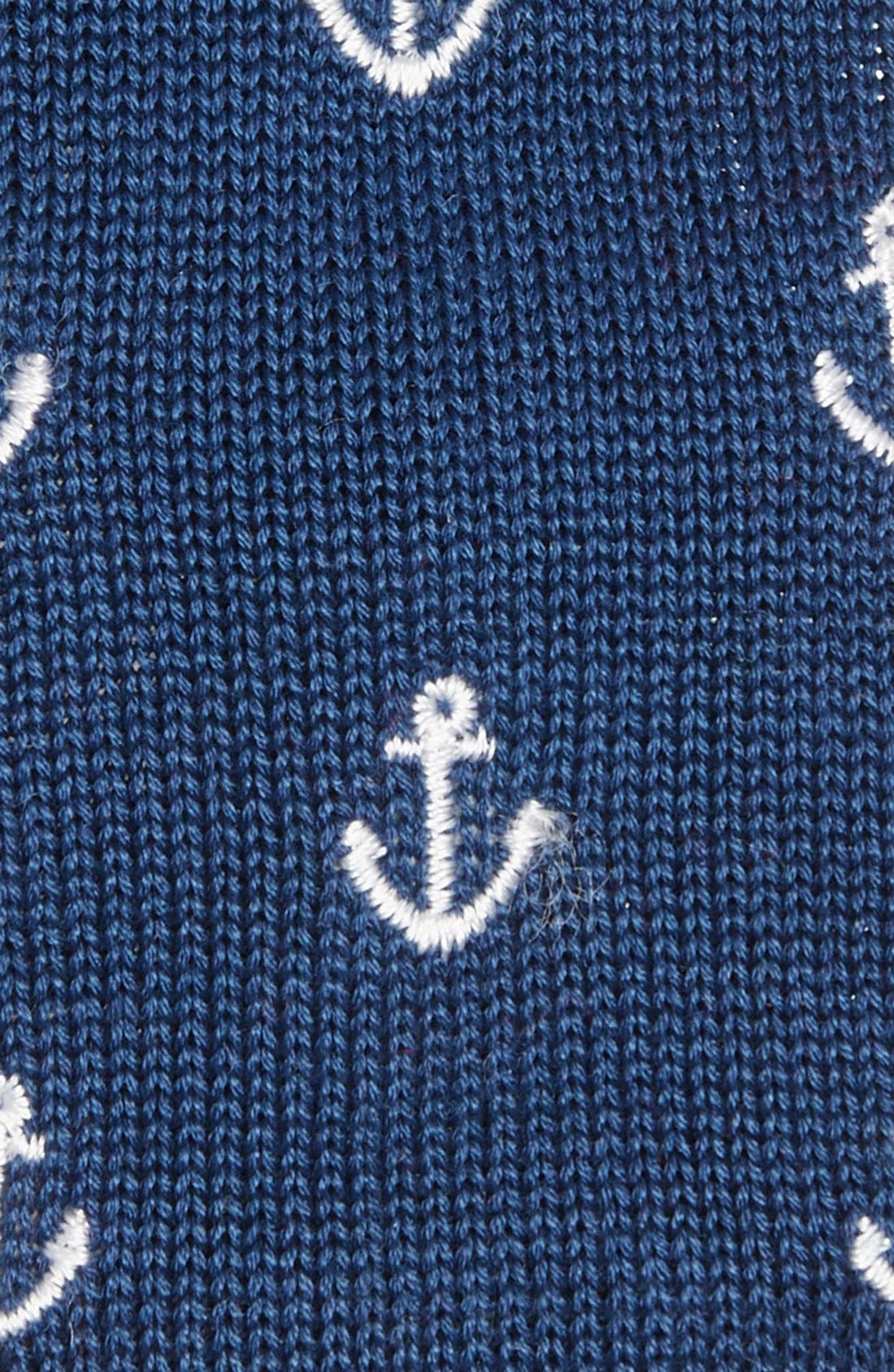 Alternate Image 2  - Ivy Prepster 'Anchors' Knit Cotton Tie