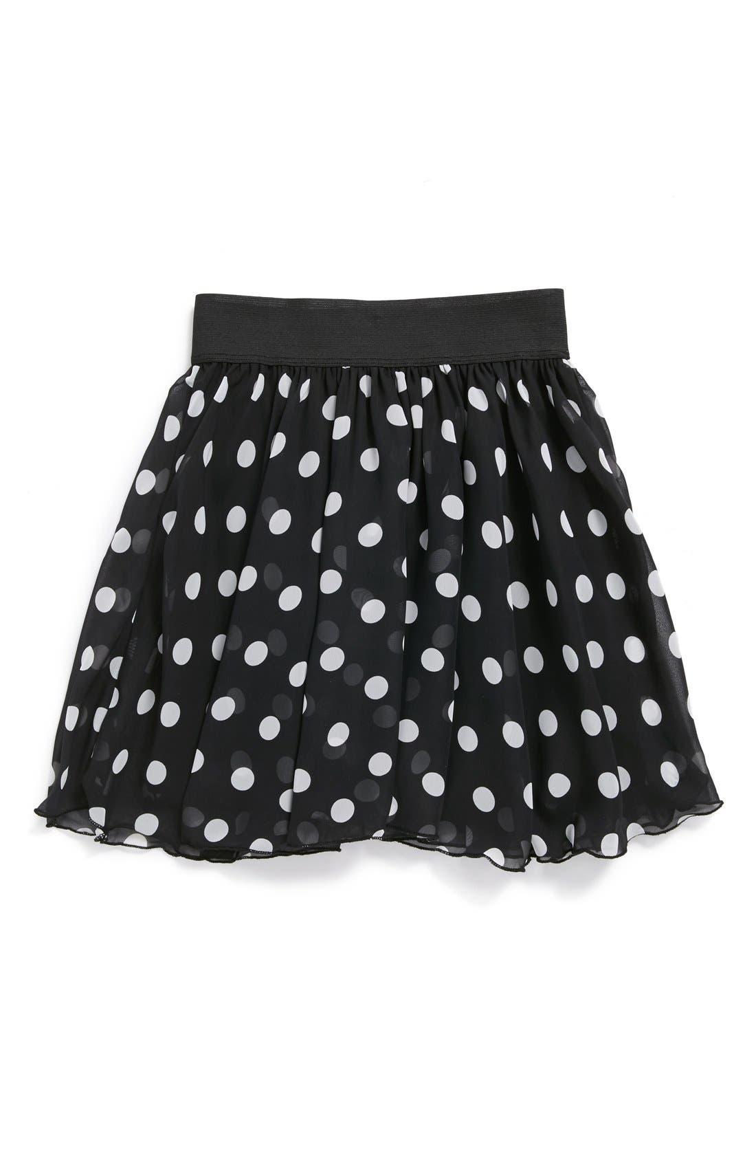 Main Image - Un Deux Trois Chiffon Skater Skirt (Big Girls)(Online Only)
