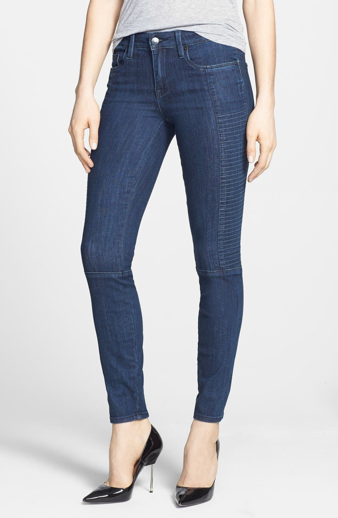 Main Image - Genetic 'Soma' Stitch Detail Skinny Jeans (Apex)