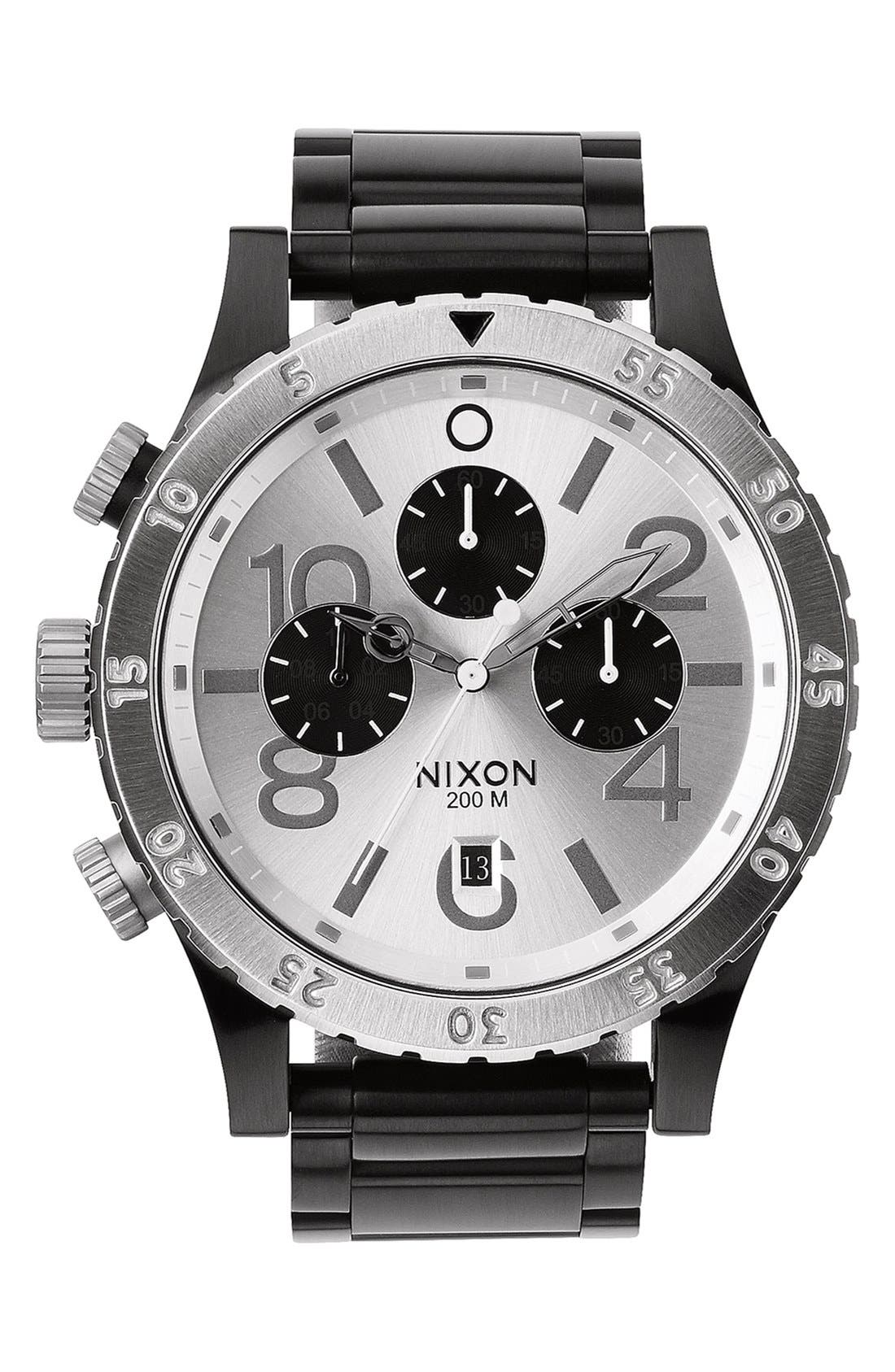 Alternate Image 1 Selected - Nixon 'The 48-20' Chronograph Bracelet Watch, 48mm