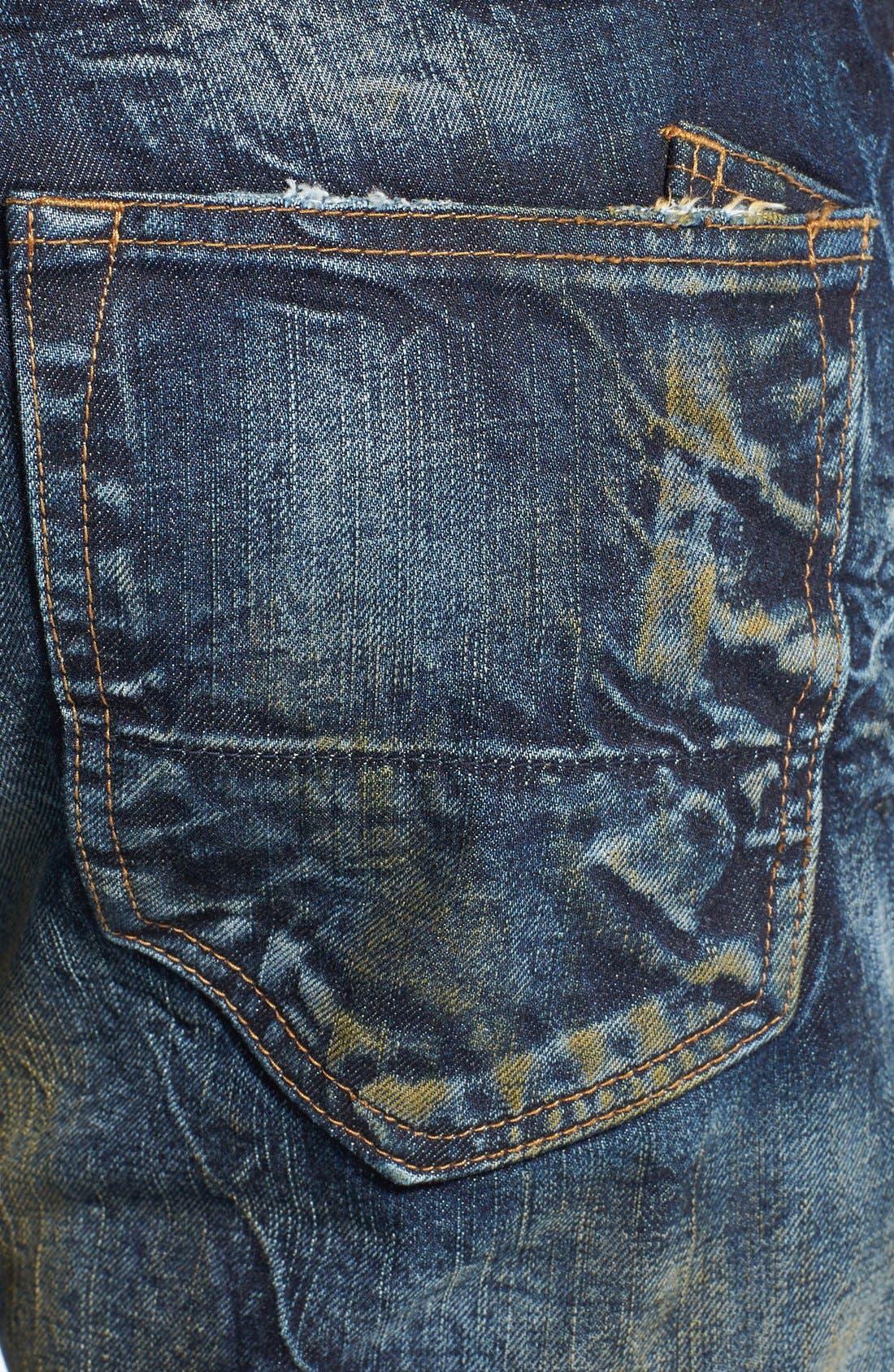 Alternate Image 4  - PRPS 'Barracuda' Distressed Straight Leg Jeans (Winged Bat)