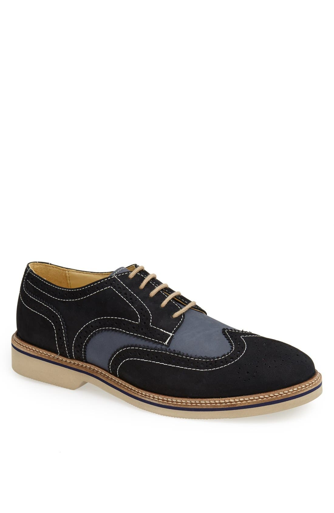 Main Image - 1901 'Wing It' Suede Oxford (Men)