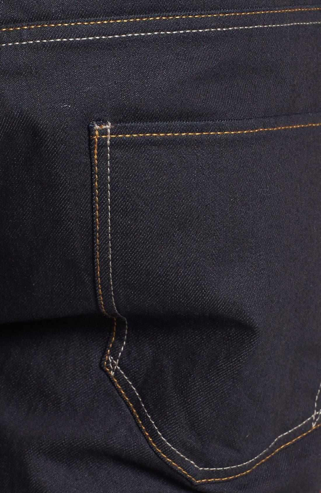 Alternate Image 3  - Topman Coated Stretch Skinny Fit Jeans (Dark Blue)