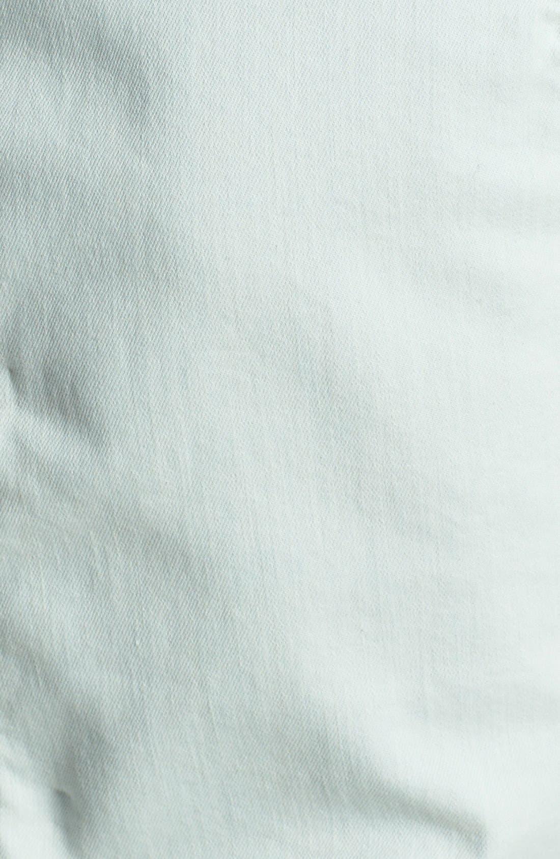 Alternate Image 3  - DL1961 'Reese' Quilted Shoulder Denim Peplum Top