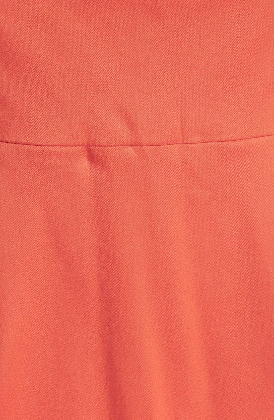 Alternate Image 4  - Adrianna Papell Caged Yoke Stretch Cotton Sheath Dress