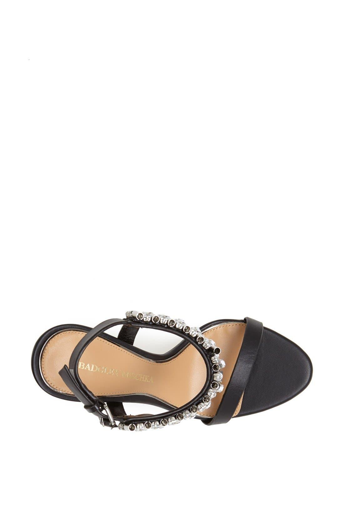 Alternate Image 3  - Badgley Mischka 'Kallan' Crystal Cuff Leather Sandal