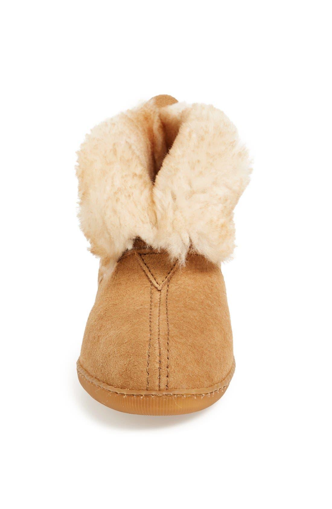 Alternate Image 3  - Minnetonka Sheepskin Slipper Boot (Women)