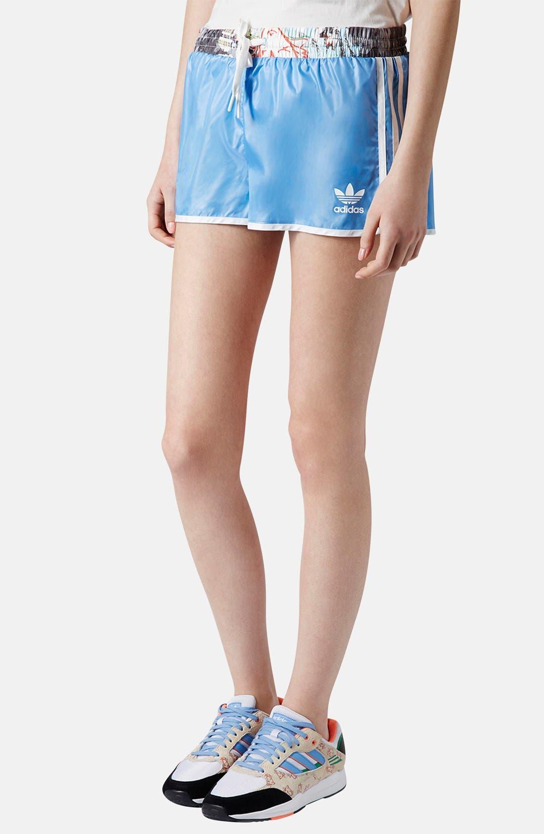 Alternate Image 1 Selected - Topshop x adidas Originals Blue Shorts