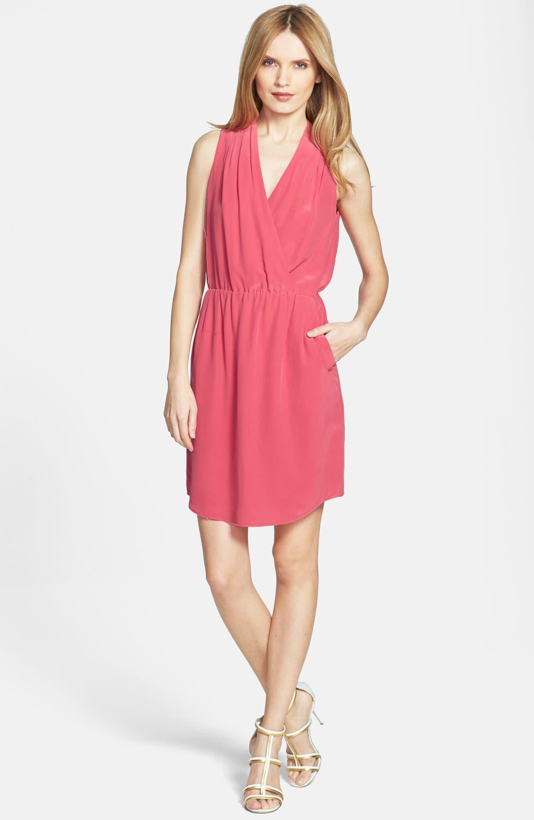 Alternate Image 1 Selected - Rachel Roy Draped Silk Dress