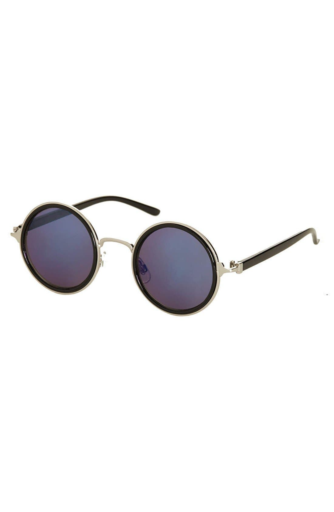 Main Image - Topshop 'Mimi Revo' 47mm Round Sunglasses