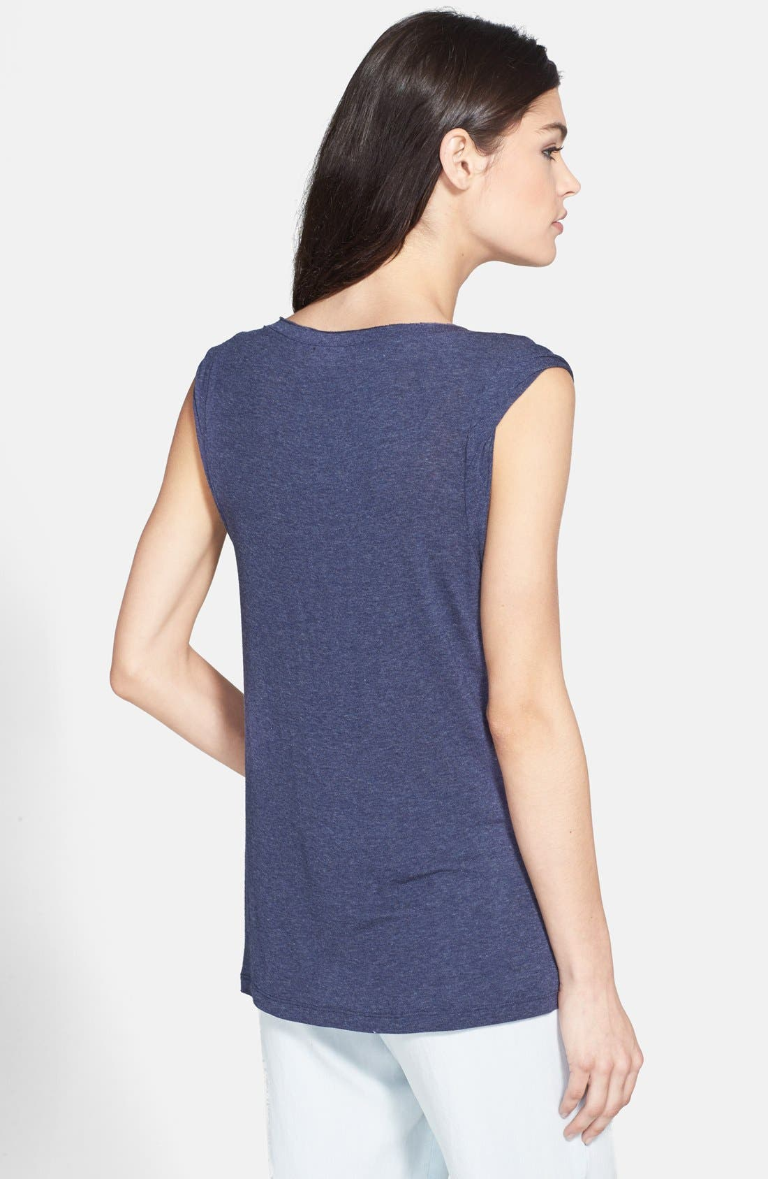 Alternate Image 2  - Splendid Drape Sleeve Muscle Tee