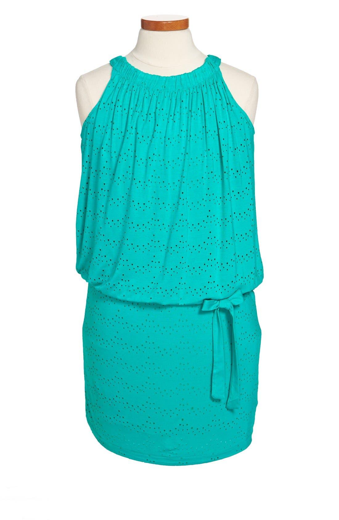 Alternate Image 1 Selected - Nicole Miller Laser Cut Dress (Big Girls)