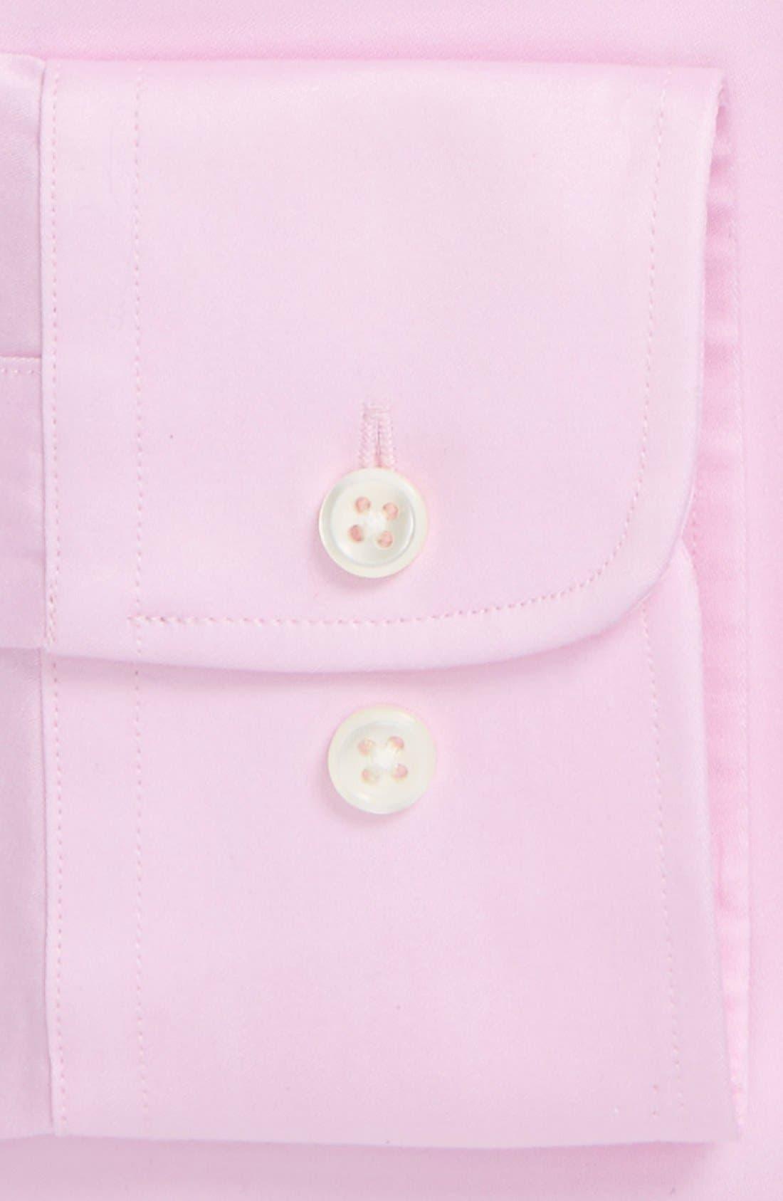 Alternate Image 4  - Ike Behar Regular Fit Solid Dress Shirt (Online Only)