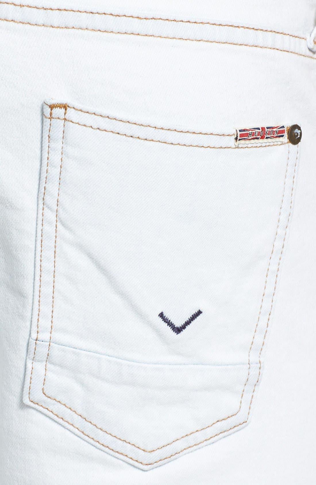 Alternate Image 4  - Hudson Jeans 'Sartor' Slouchy Skinny Fit Jeans (Flashback)