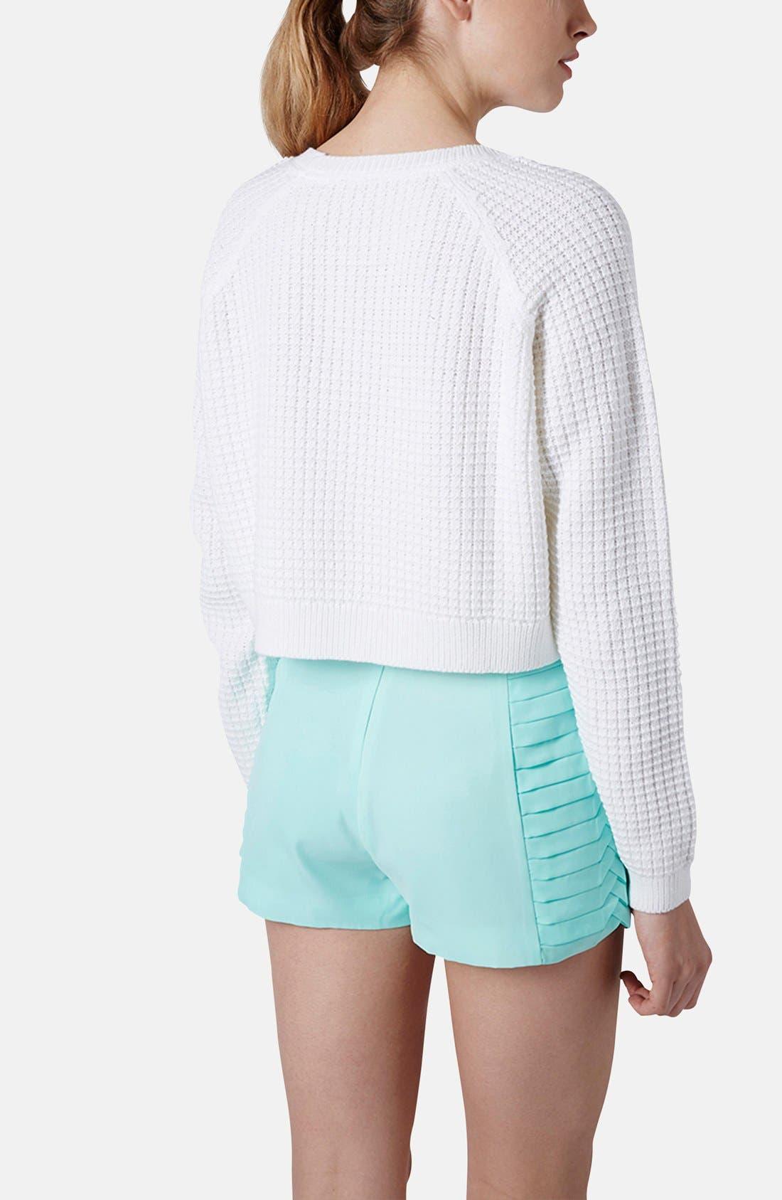 Alternate Image 2  - Topshop 'Fisherman' Crop Sweater