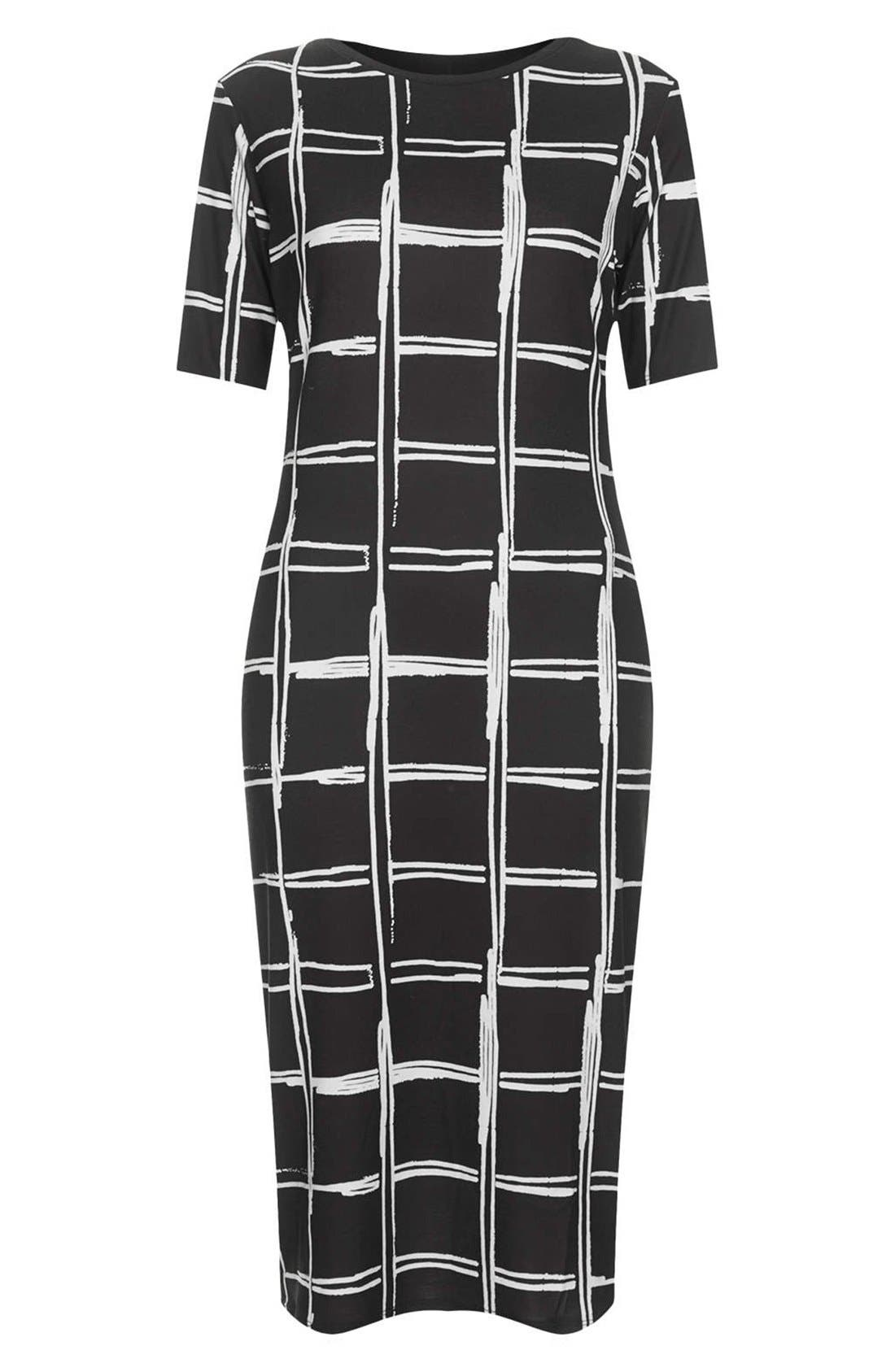 Alternate Image 3  - Topshop Grid Pattern Midi Dress