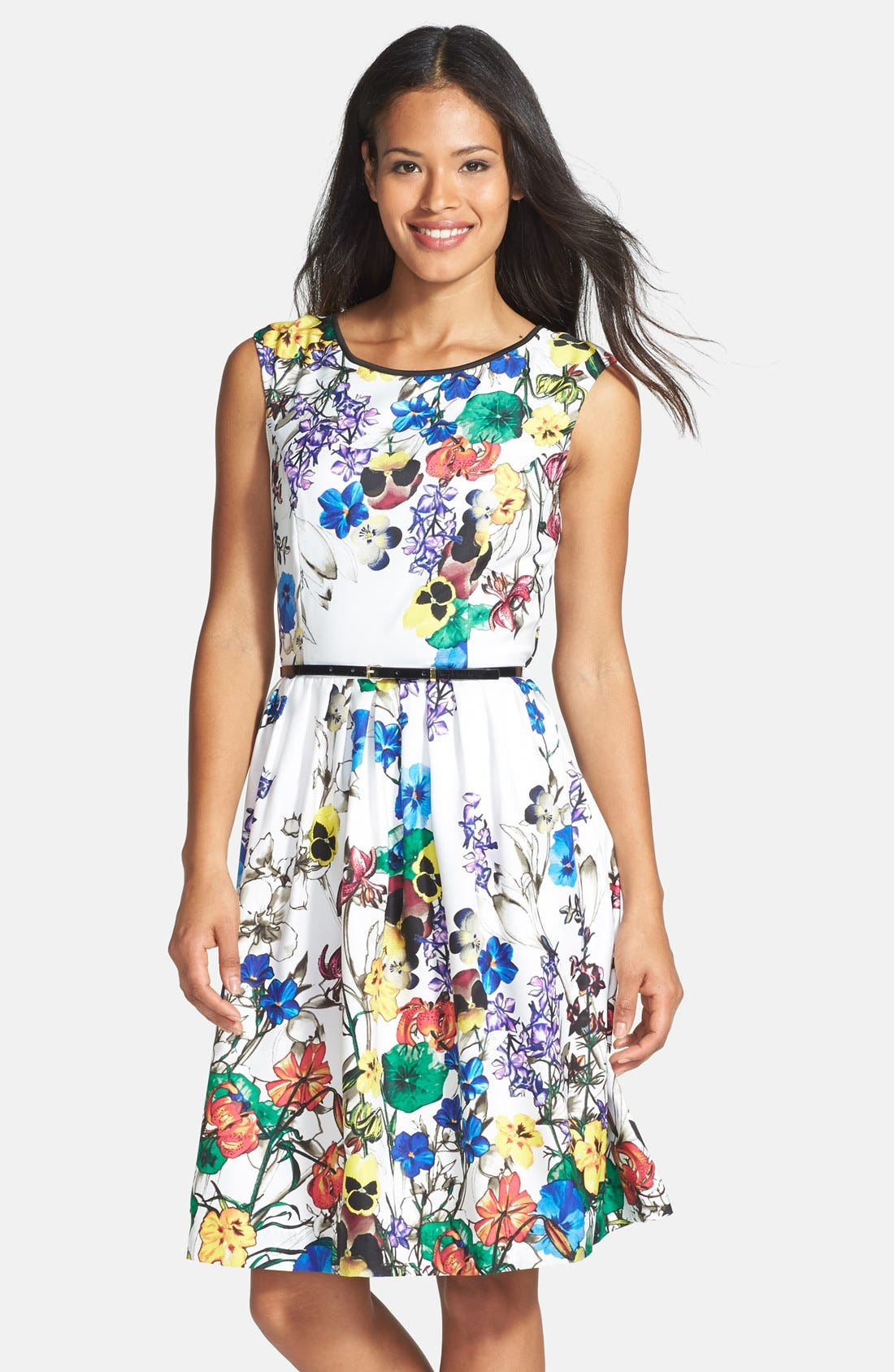Main Image - Ellen Tracy Fit & Flare Dress